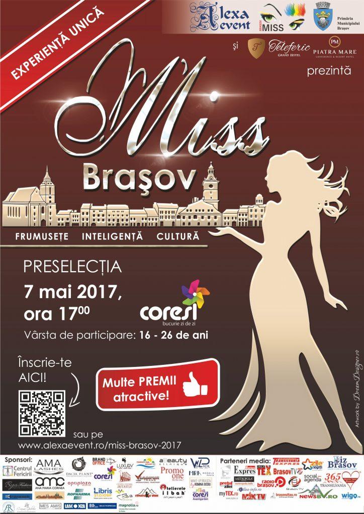 Afis Preselectii Miss Brasov 2017